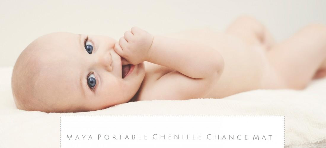 Pure cotton chenille, eco friendly, organic, gentle on baby and practical for mum. Portable Change Mattress for Baby.