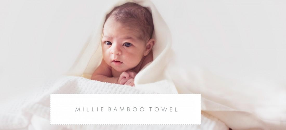 Pure bamboo towel, eco friendly, organic, gentle on baby and practical for mum.